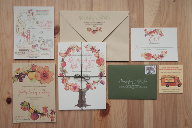 Late Summer Harvest Soirée Wedding Invitation Suite