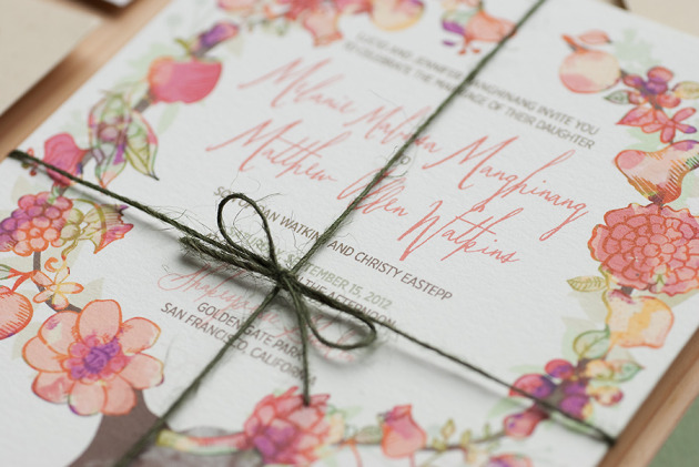 Invitation Embellishment Detail
