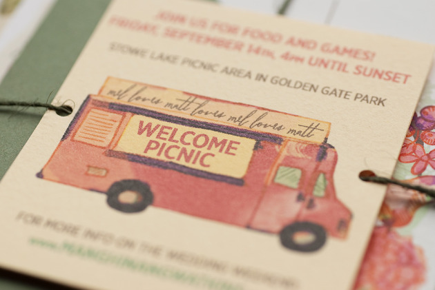 Food Truck Welcome Picnic Invite