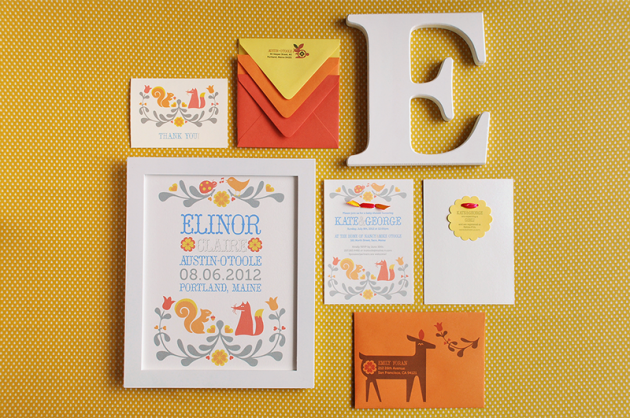 Folk Animal Baby Shower & Name Print Suite