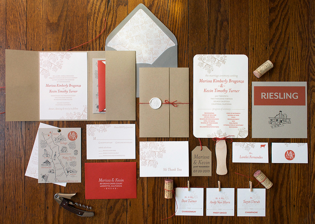 Silverado Trail Wedding Stationery Suite