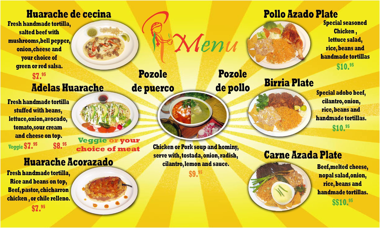 Haitian Food Menu