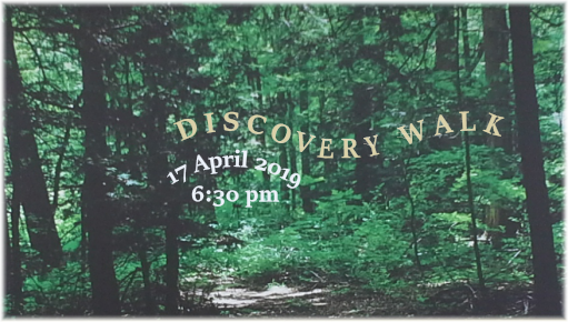 NPSNEO program graphic for discovery walk 17 April 2019
