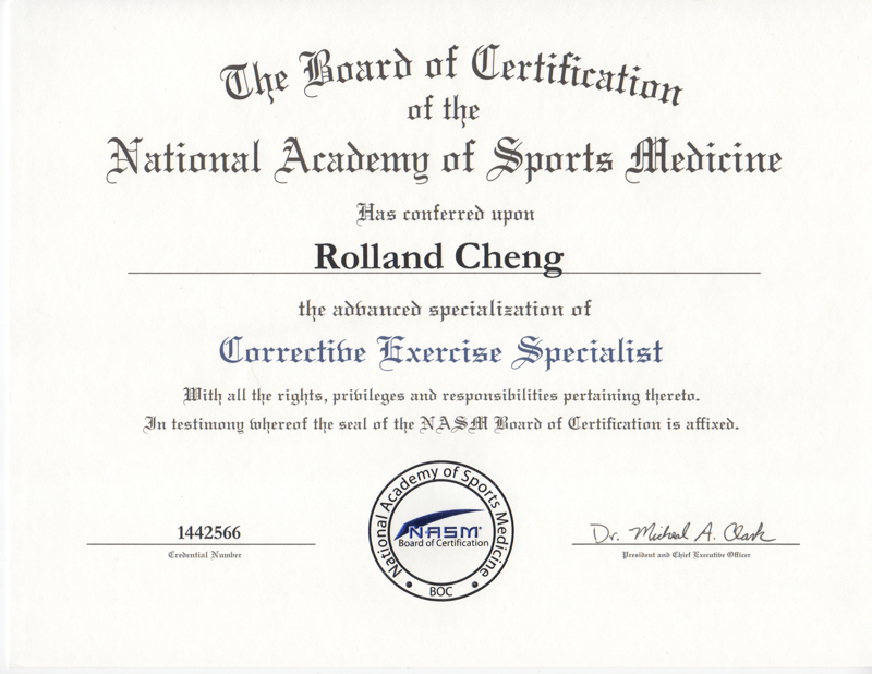 Rolland Cheng Personal Training