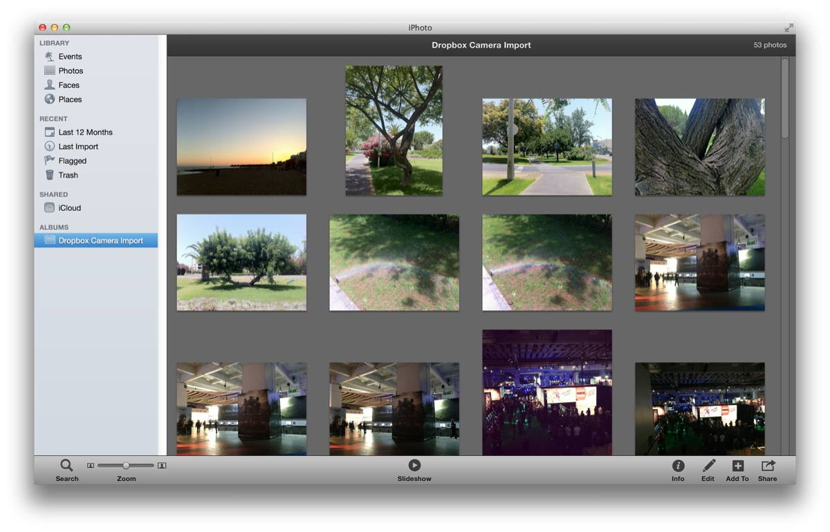 Photos are automatically imported into iPhoto