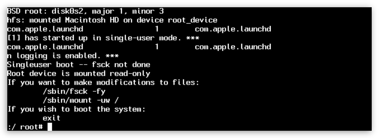 Single-User Mode provides a command-line only interface for OS X