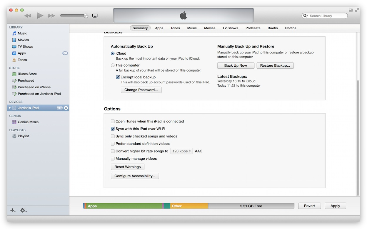 Wi-Fi Sync must be enabled within iTunes