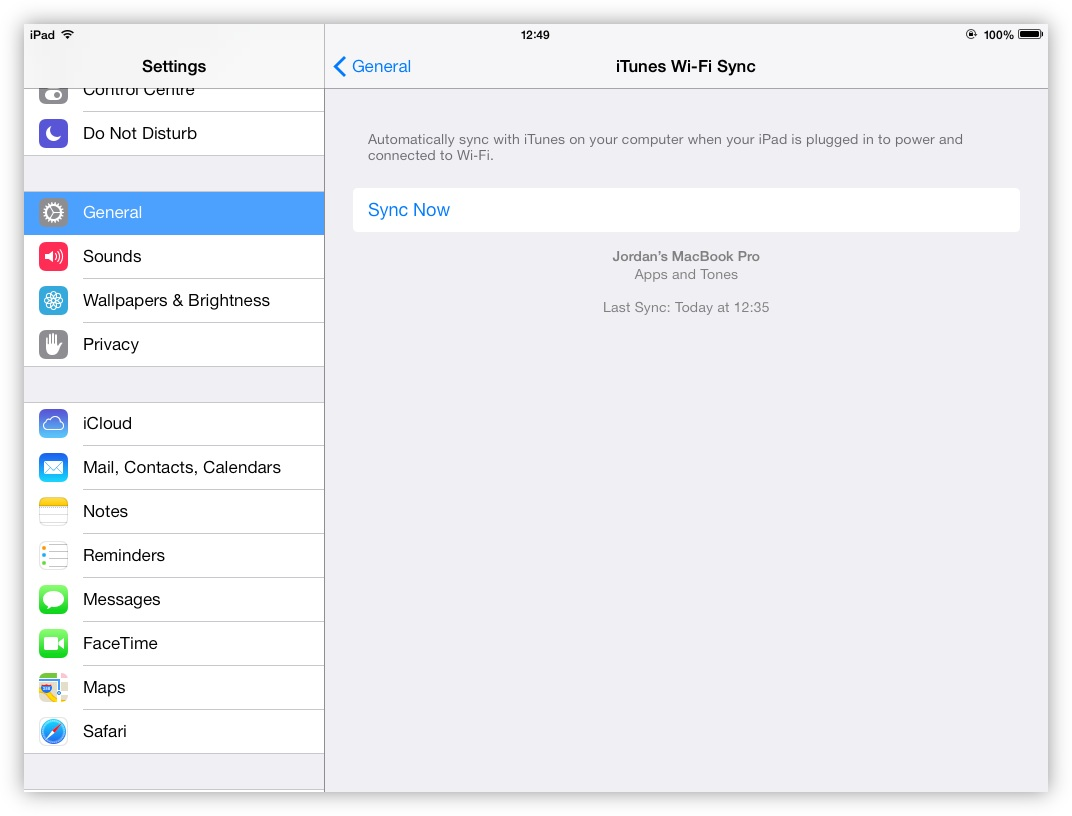 With Wi-Fi Sync enabled, it can be triggered manually within iOS