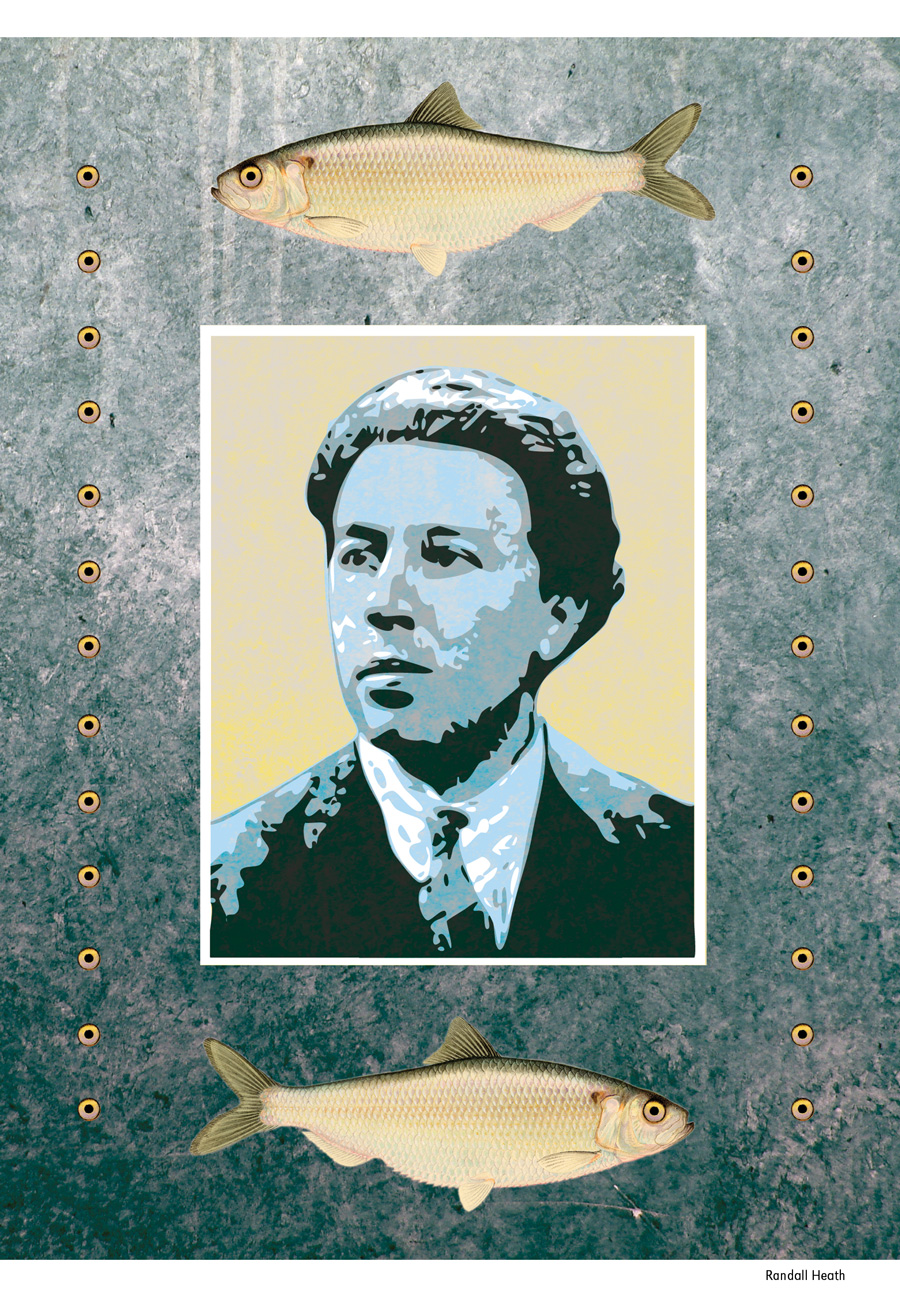 interview with Mark Polizzotti on André Breton, illustration by Randall Heath