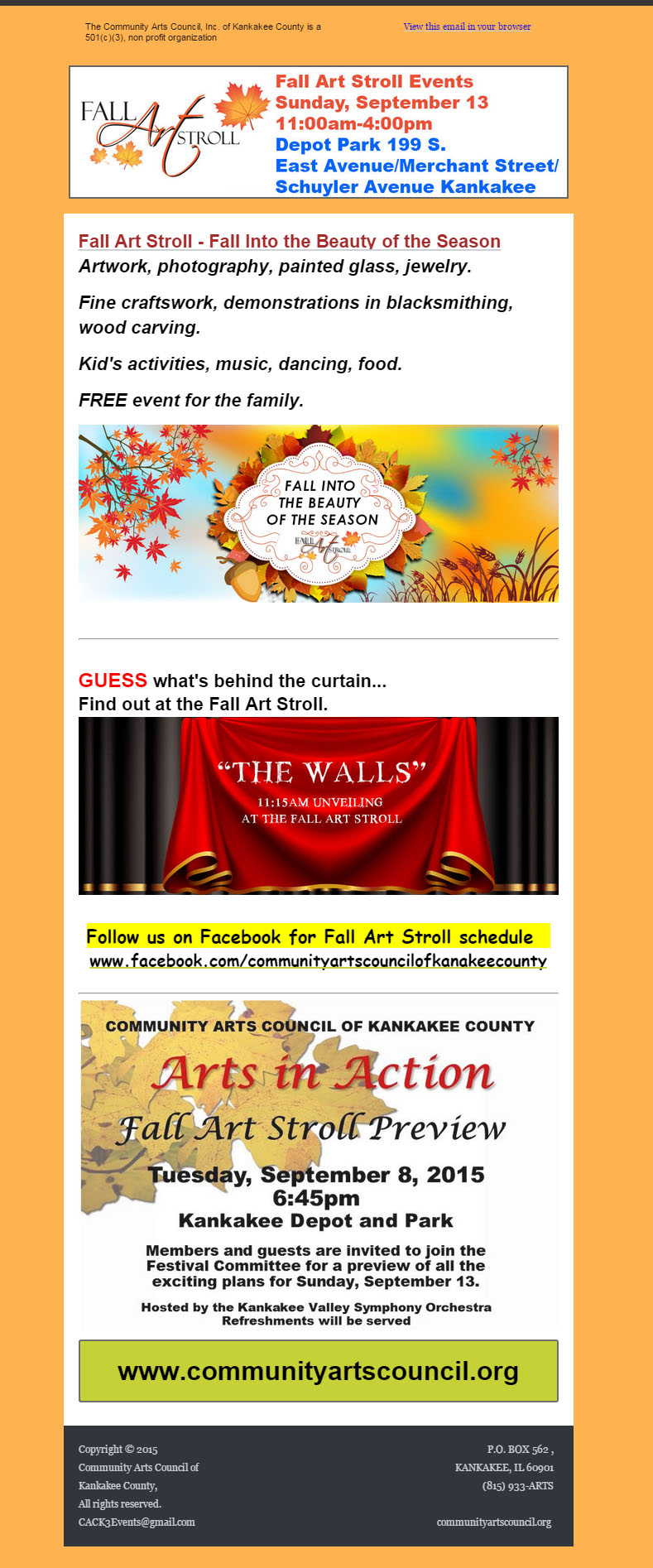 Newsletters — Community Arts Council
