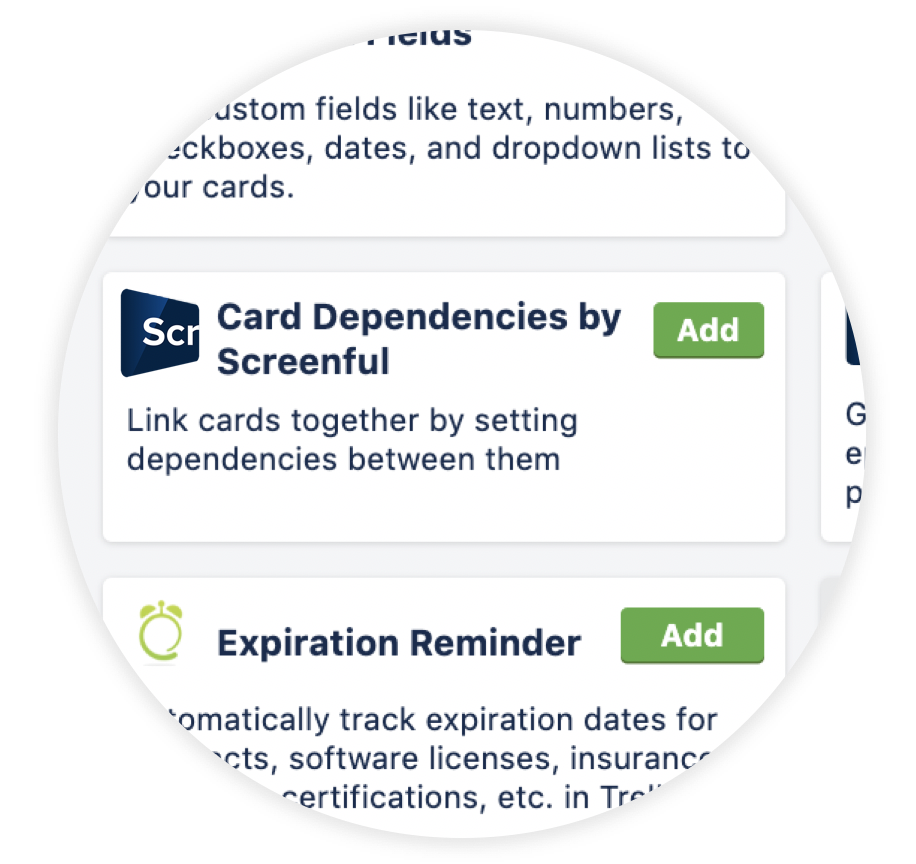 Card Dependencies for Trello — Screenful