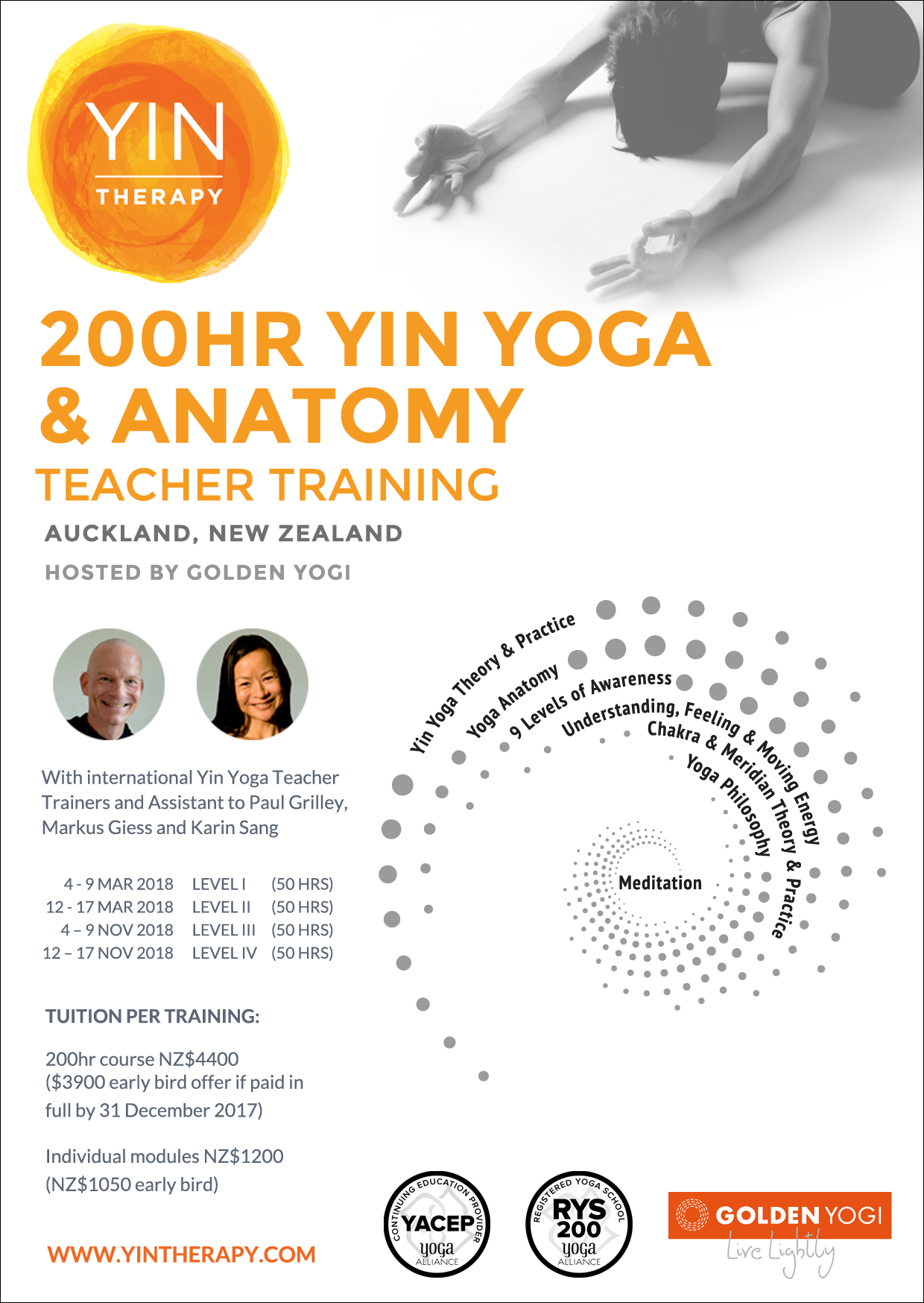 YIN THERAPYYin Yoga & Anatomy Teacher Training I (English ...