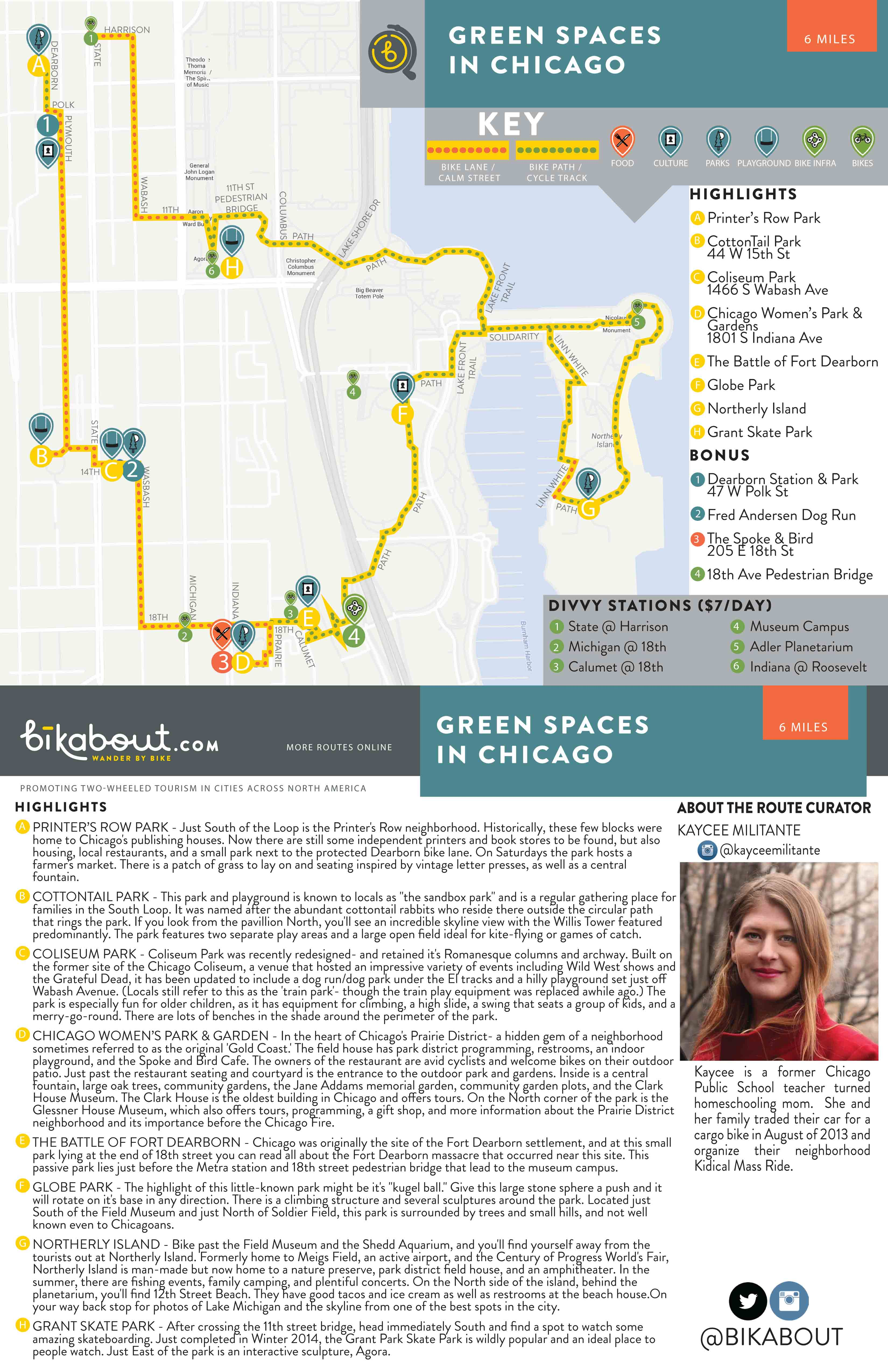 Green Spaces In Chicago  Bikabout - Map of chicago dog parks