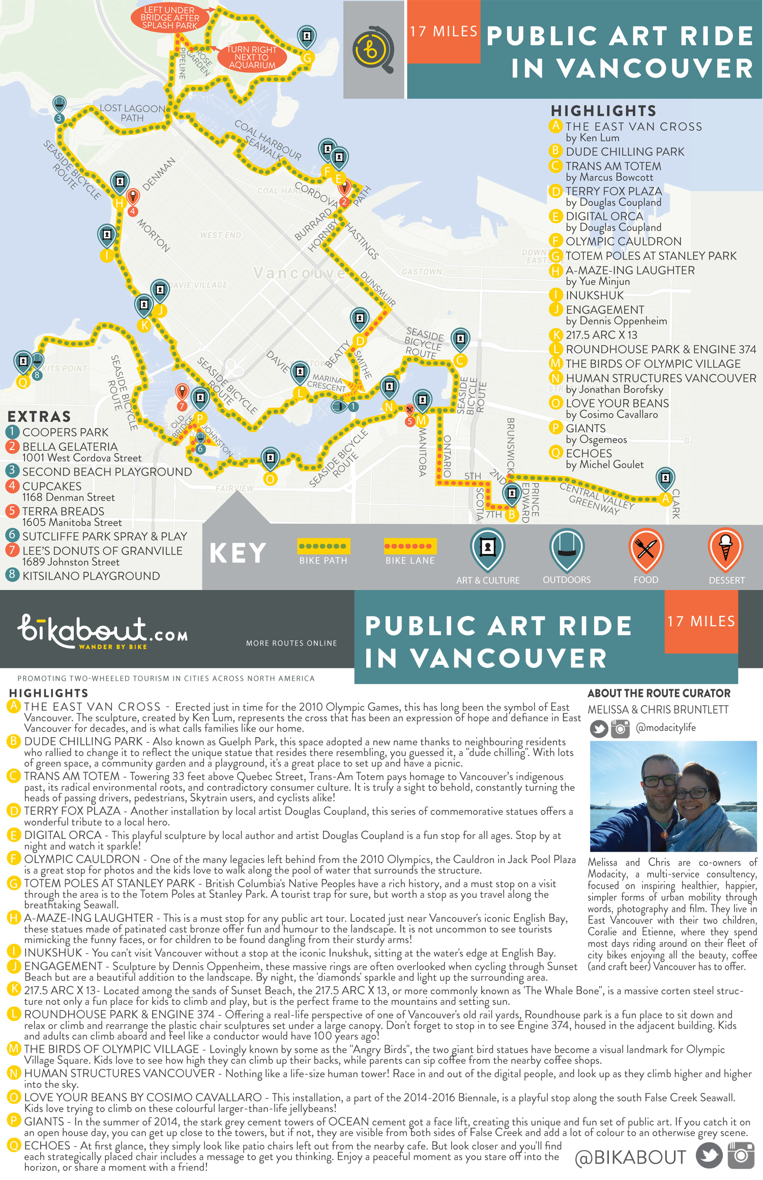 Public art ride in vancouver bikabout click on map image to download pdf sciox Image collections