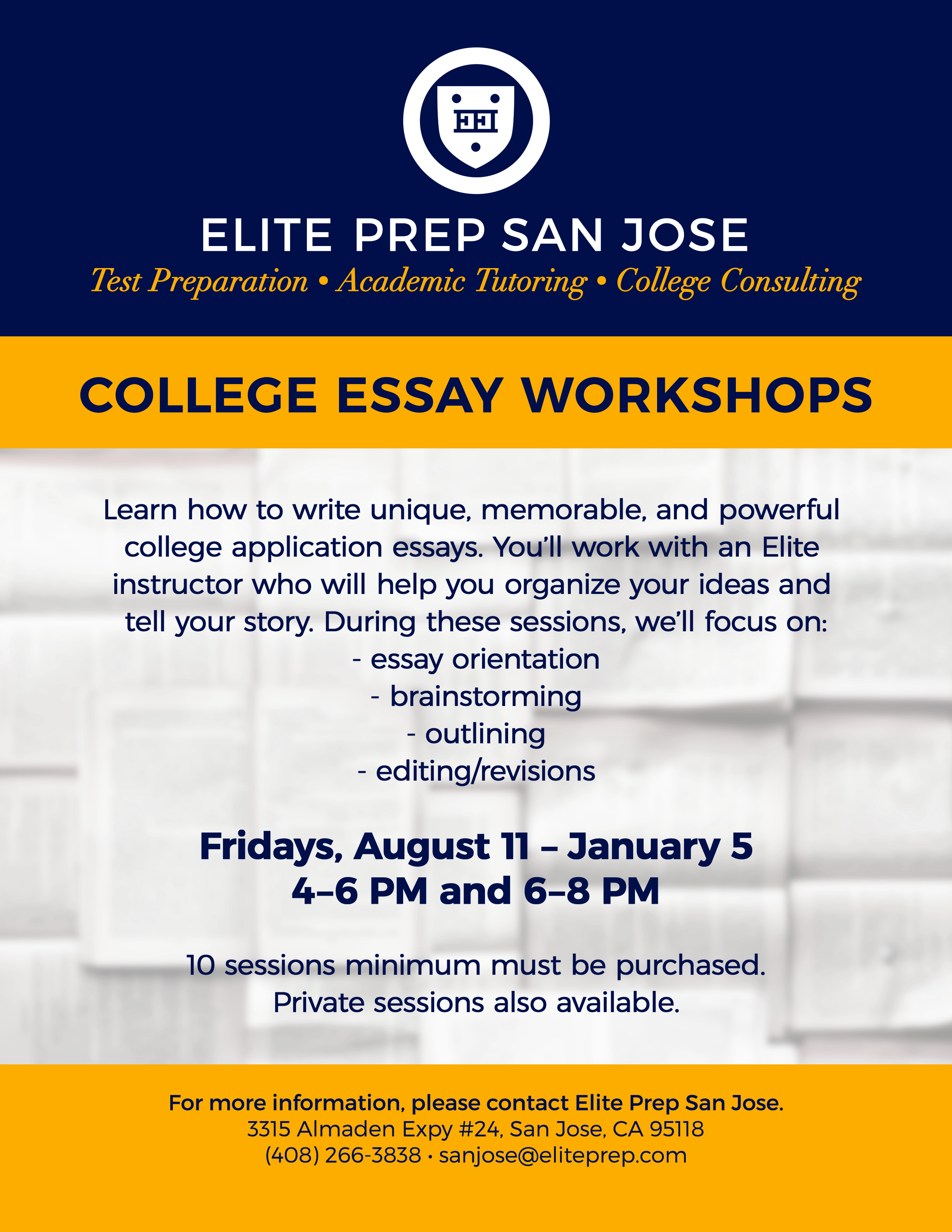 Writing a strong college application essay