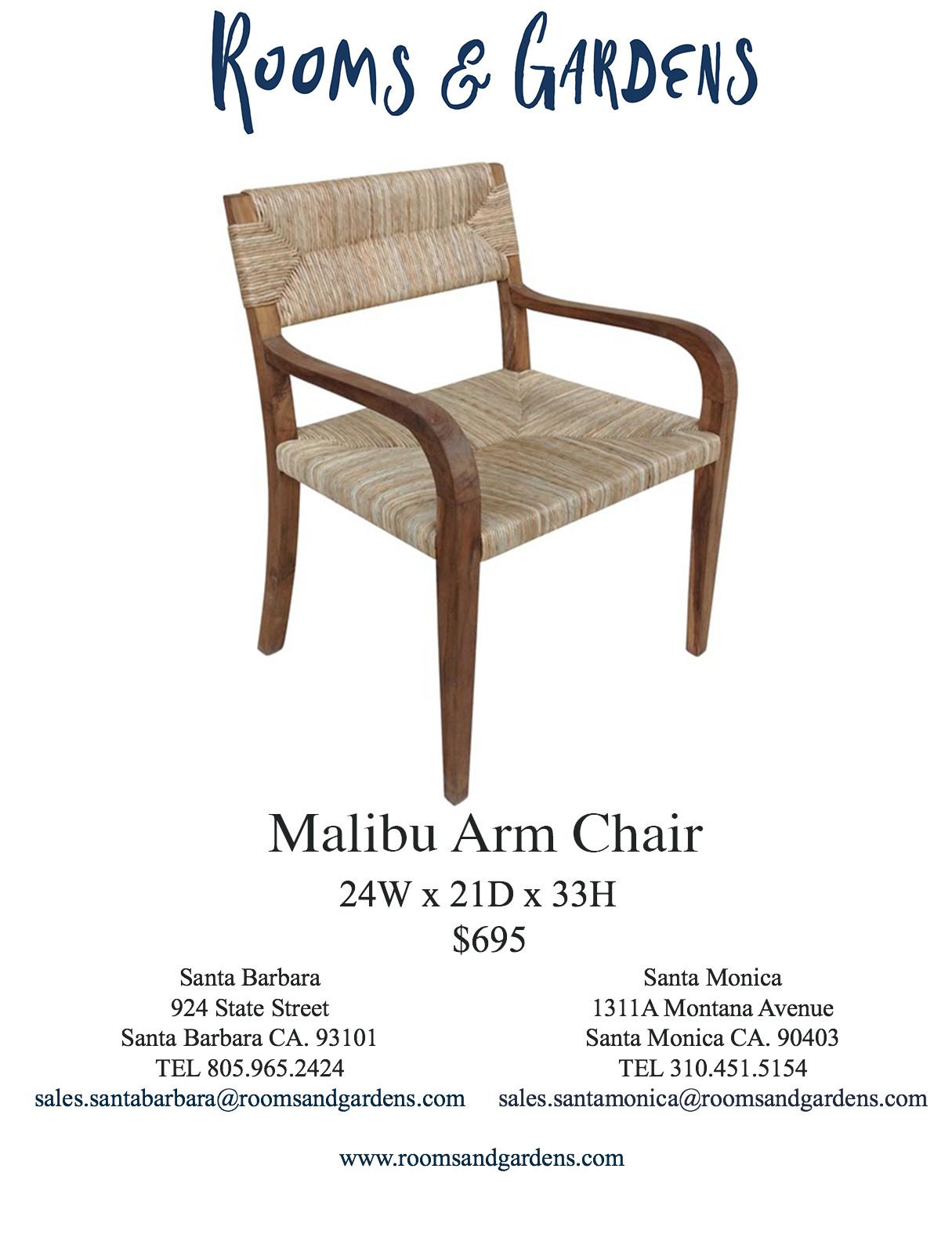 Dining Chairs — Rooms & Gardens