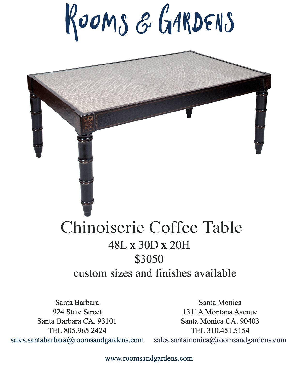 Coffee Tables — Rooms & Gardens