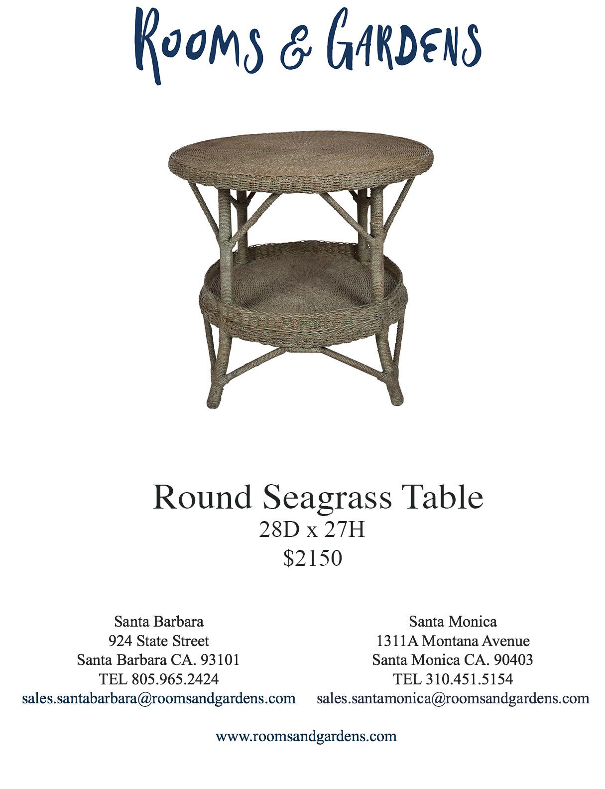 Custom Seagrass & Wicker — Rooms & Gardens