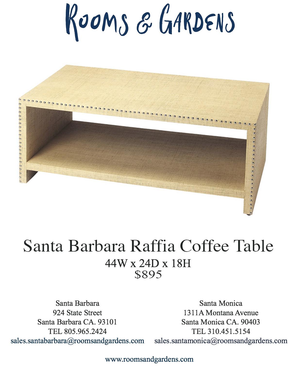 Santa Barbara Raffia Coffee Table