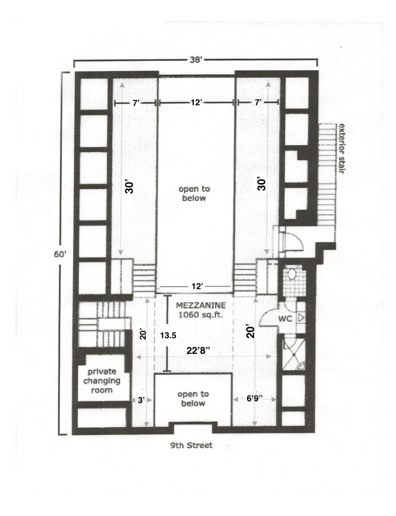 Floorplans the foundry for Mezzanine floor plan