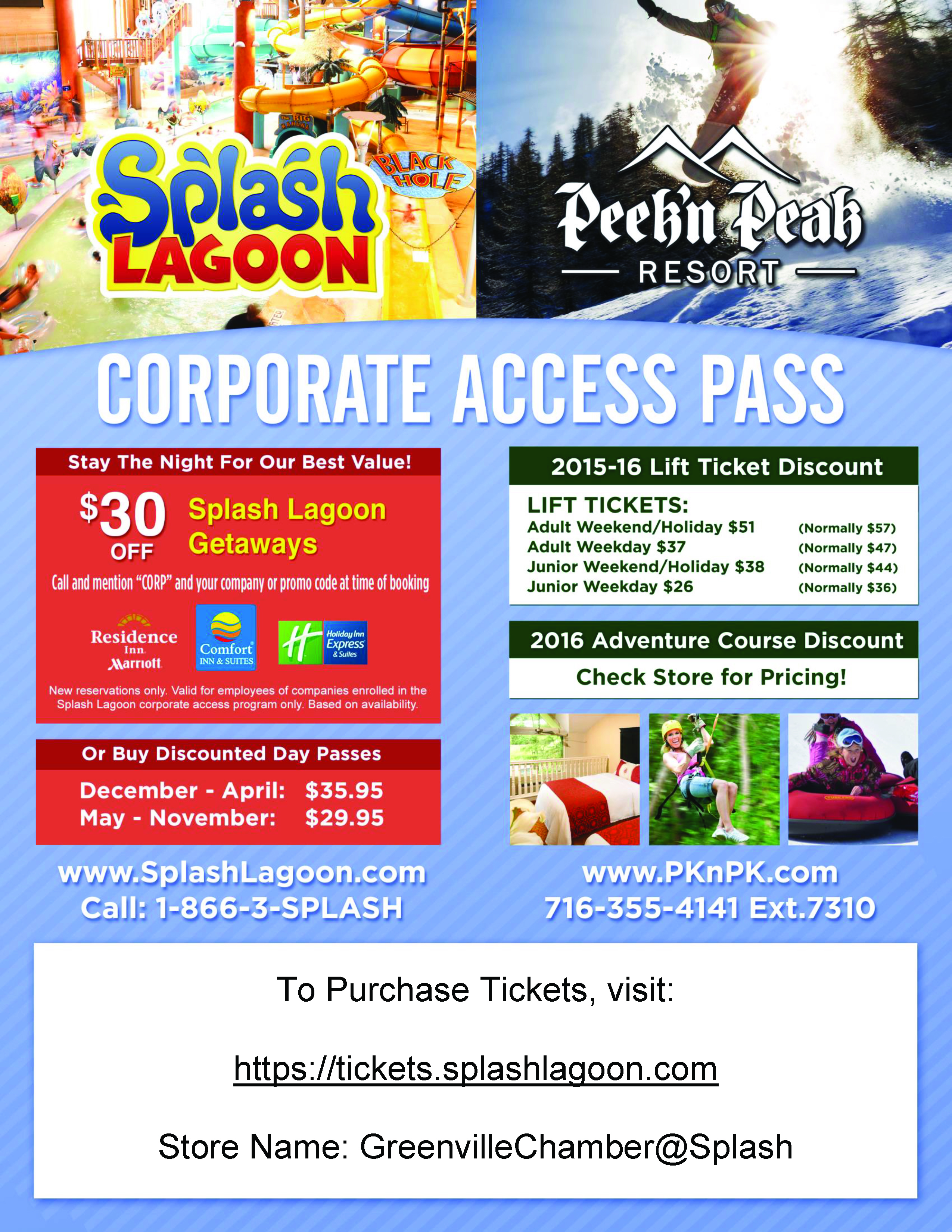 Ed Day P December April 35 95 And May November 29 After 4 Pm 30 Off Splash Lagoon