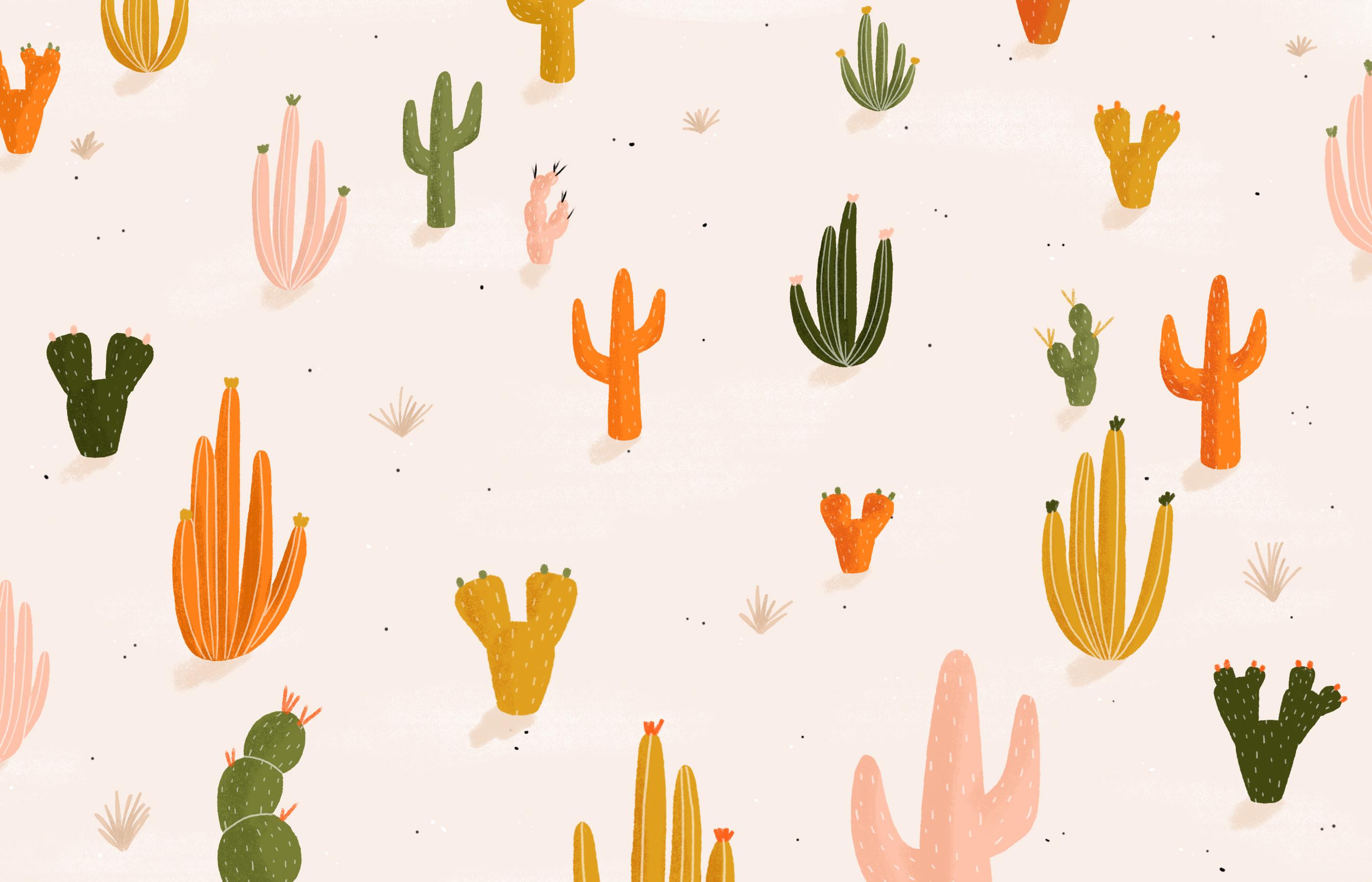 Illustrated Treats Desert Wallpaper