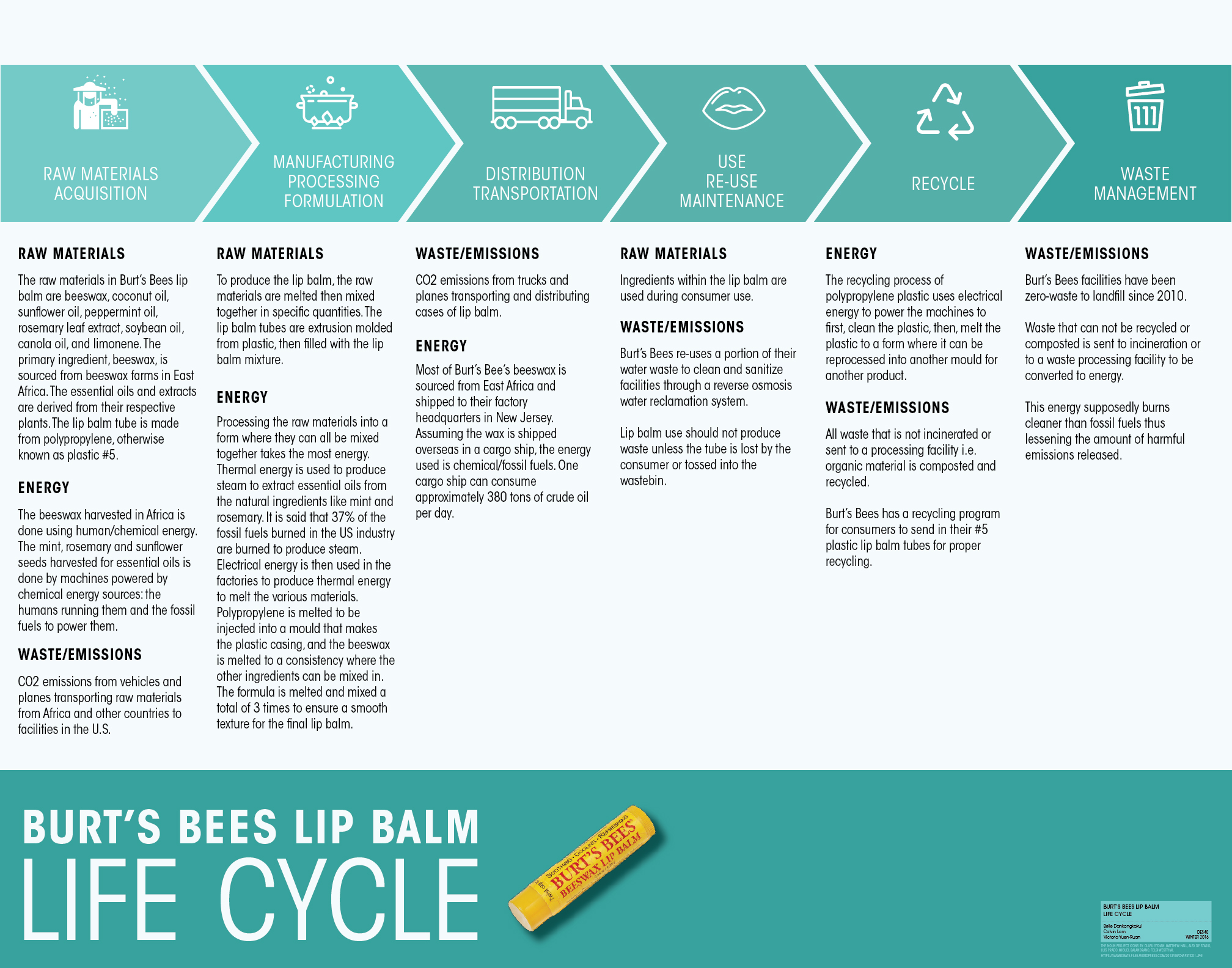 Burts Bees Lip Balm Design Life Cycle Process Flow Diagram Reaction Injection Moulding