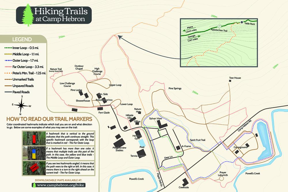 Appalachian Trail In Georgia Map.Hike Camp Hebron