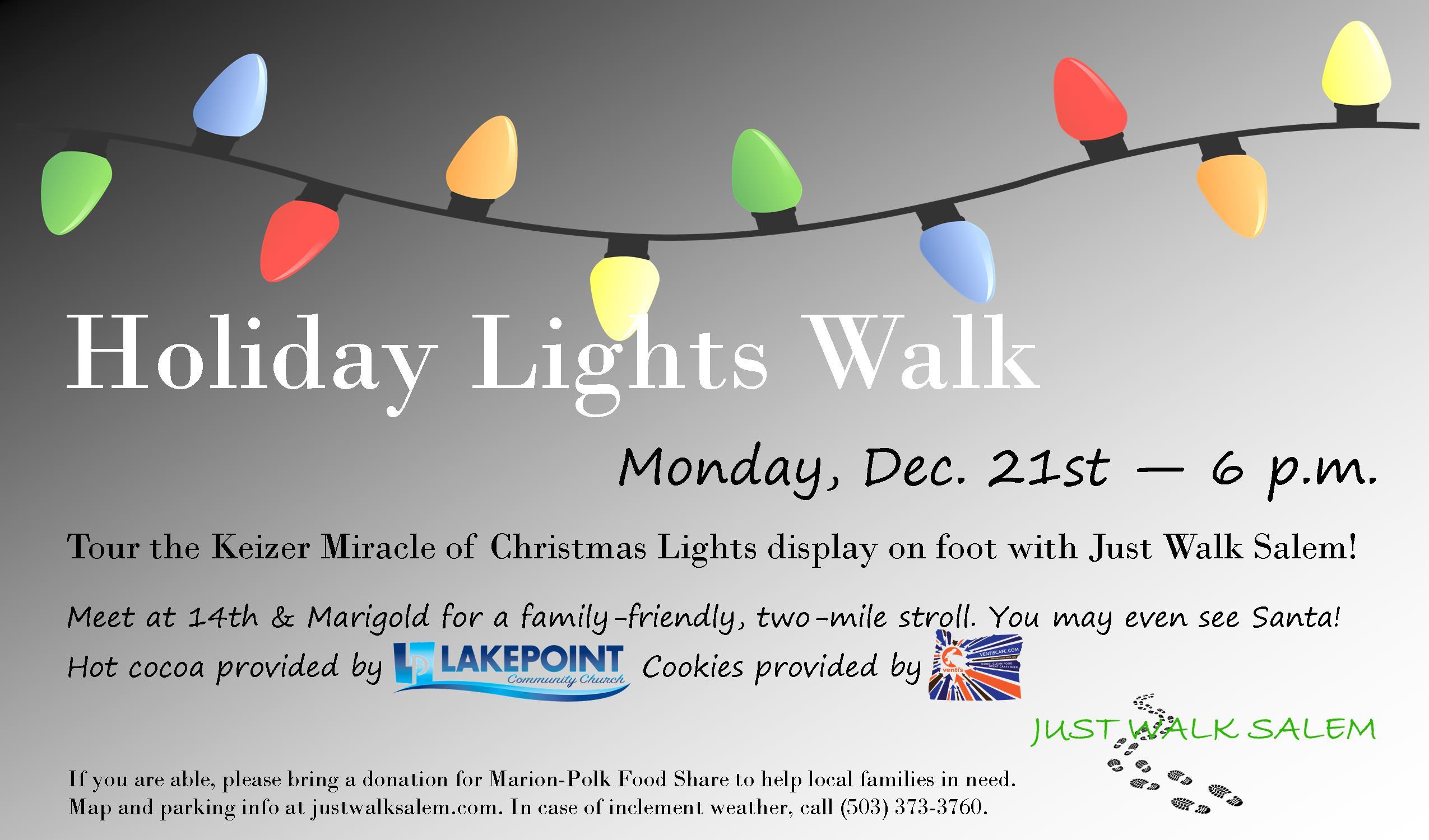 Holiday Lights Walk — Just Walk Salem Keizer