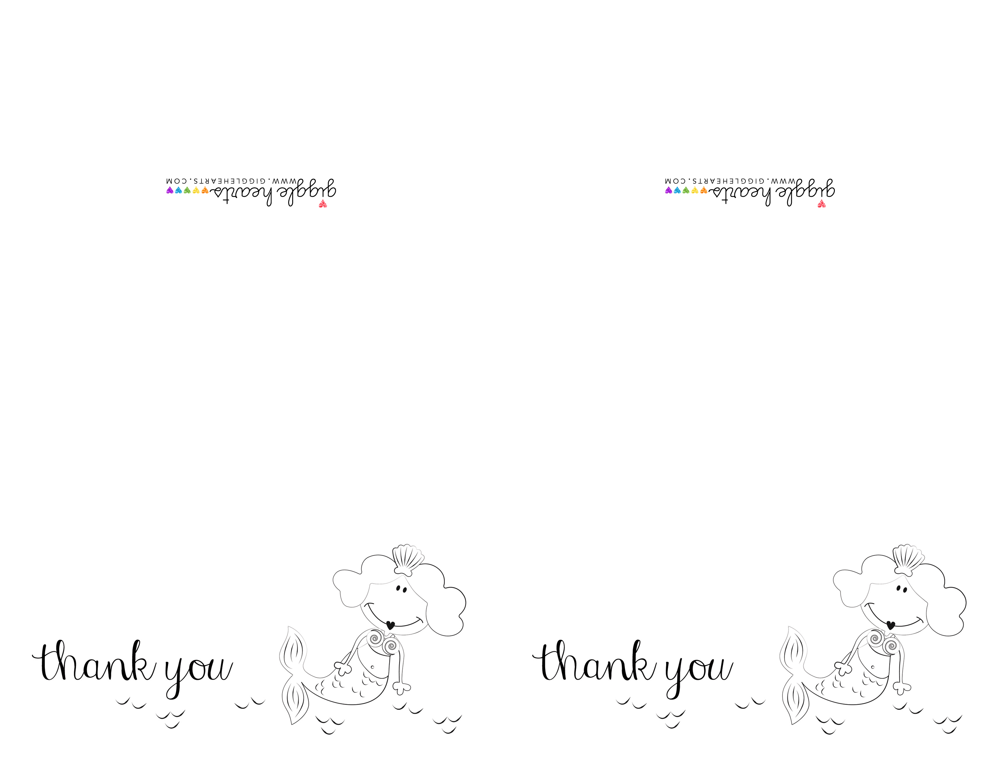 free printable thank you notes