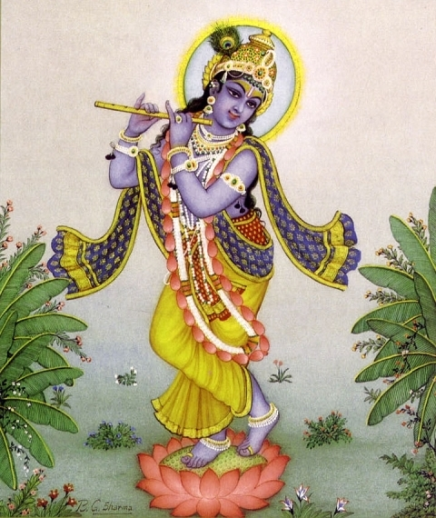"Kṛṣṇa's ""three-bend"" pose"