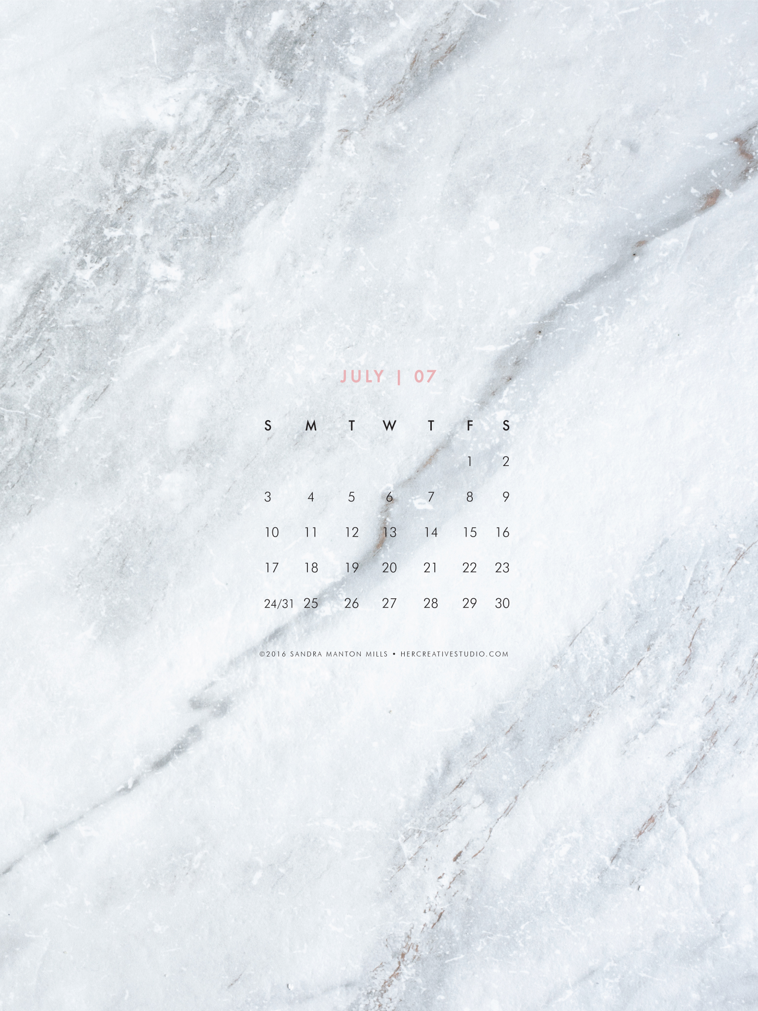 Marble Calendar Wallpaper : Downloads — her creative studio