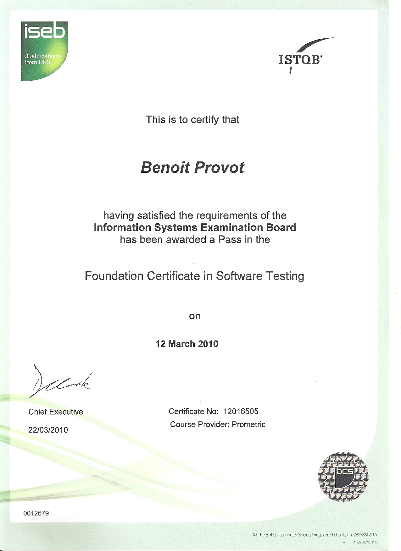 Cv benot provt iseb istqb certification in software testing 1betcityfo Image collections