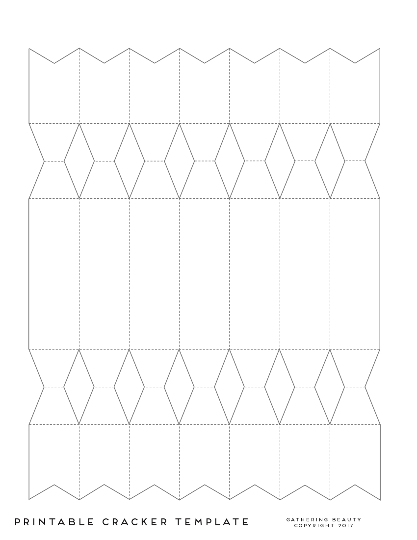 Christmas Cracker Template.Learn How To Make Diy Christmas Crackers With This Free