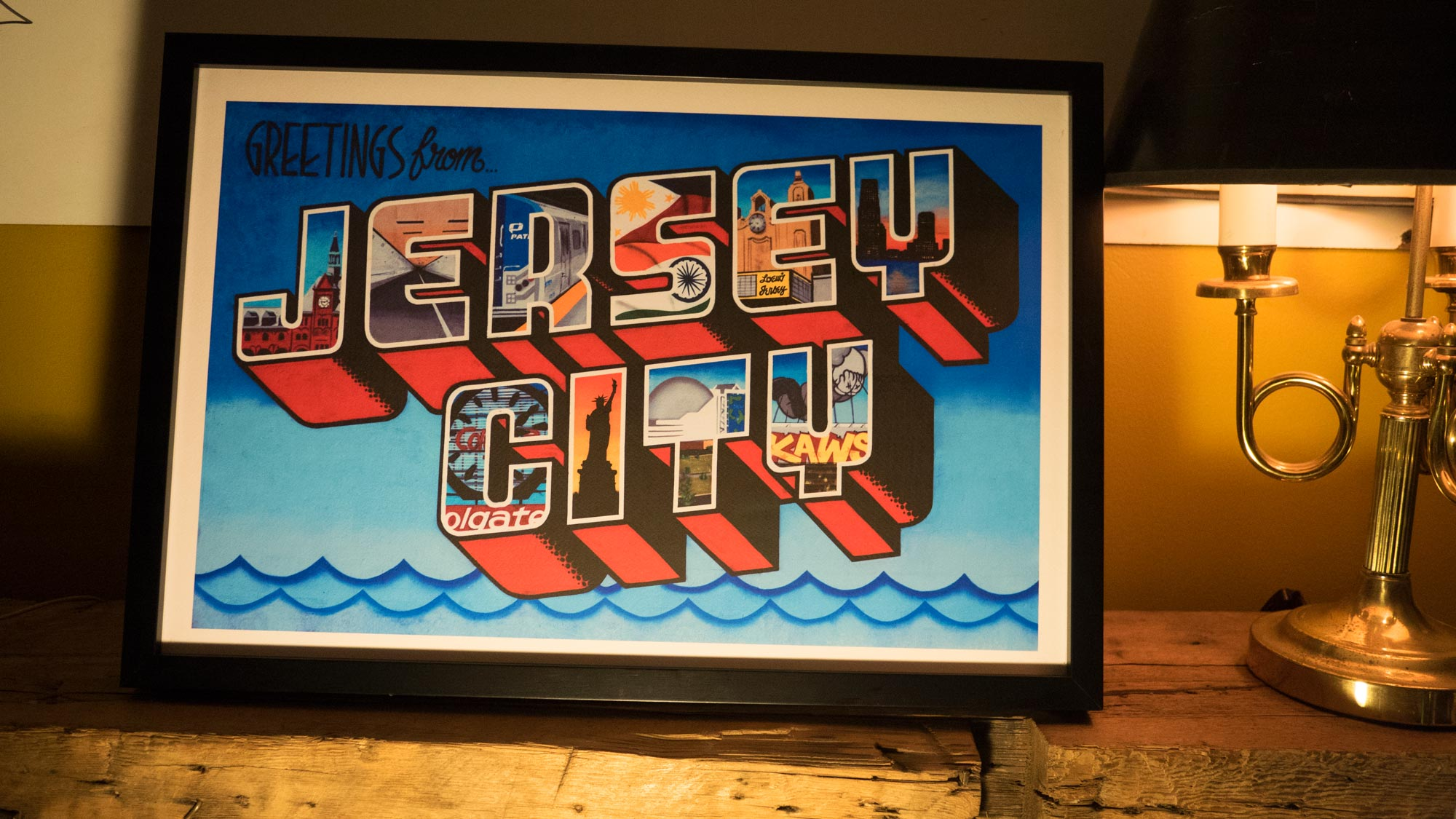 Greetings from jersey city print green villain high resolution image m4hsunfo