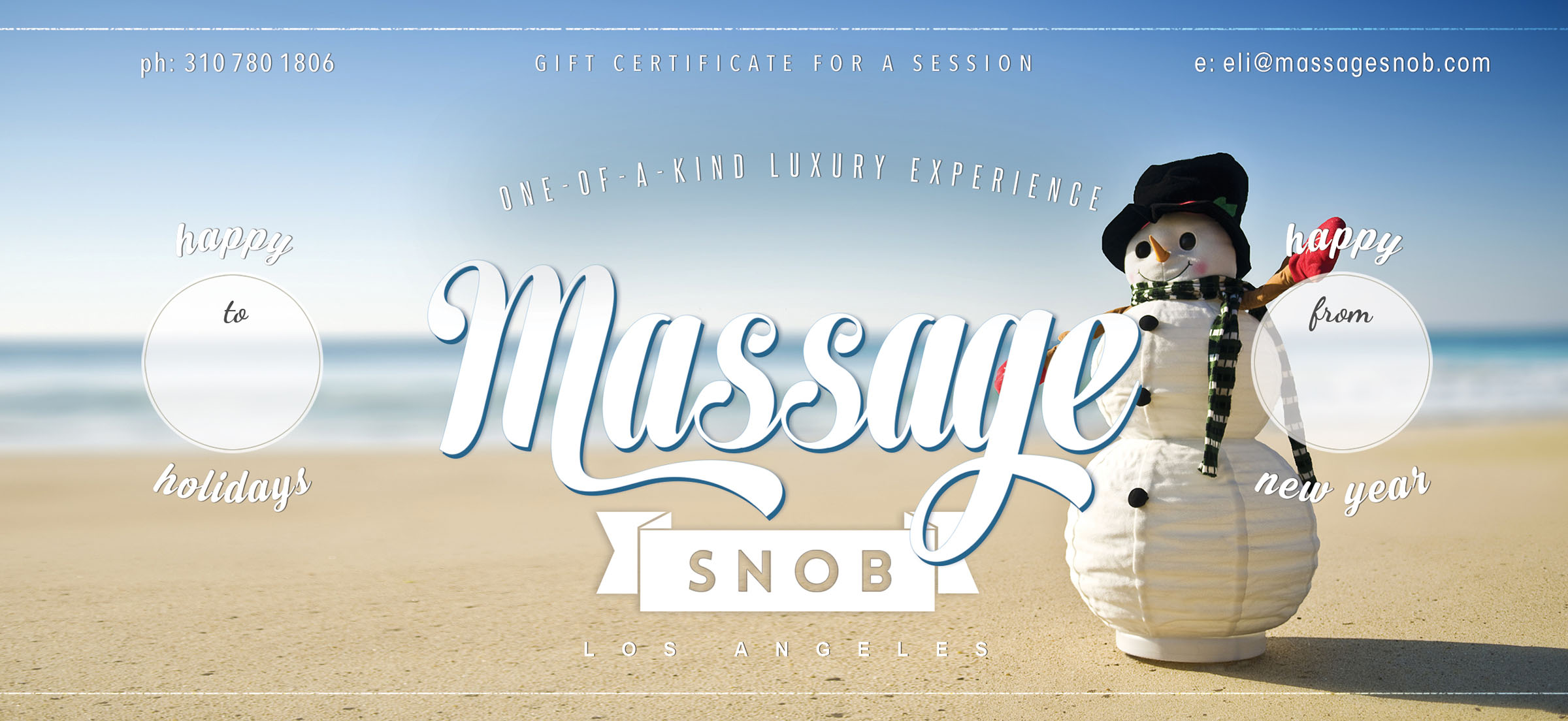 massage snob click image for printable gift certificate