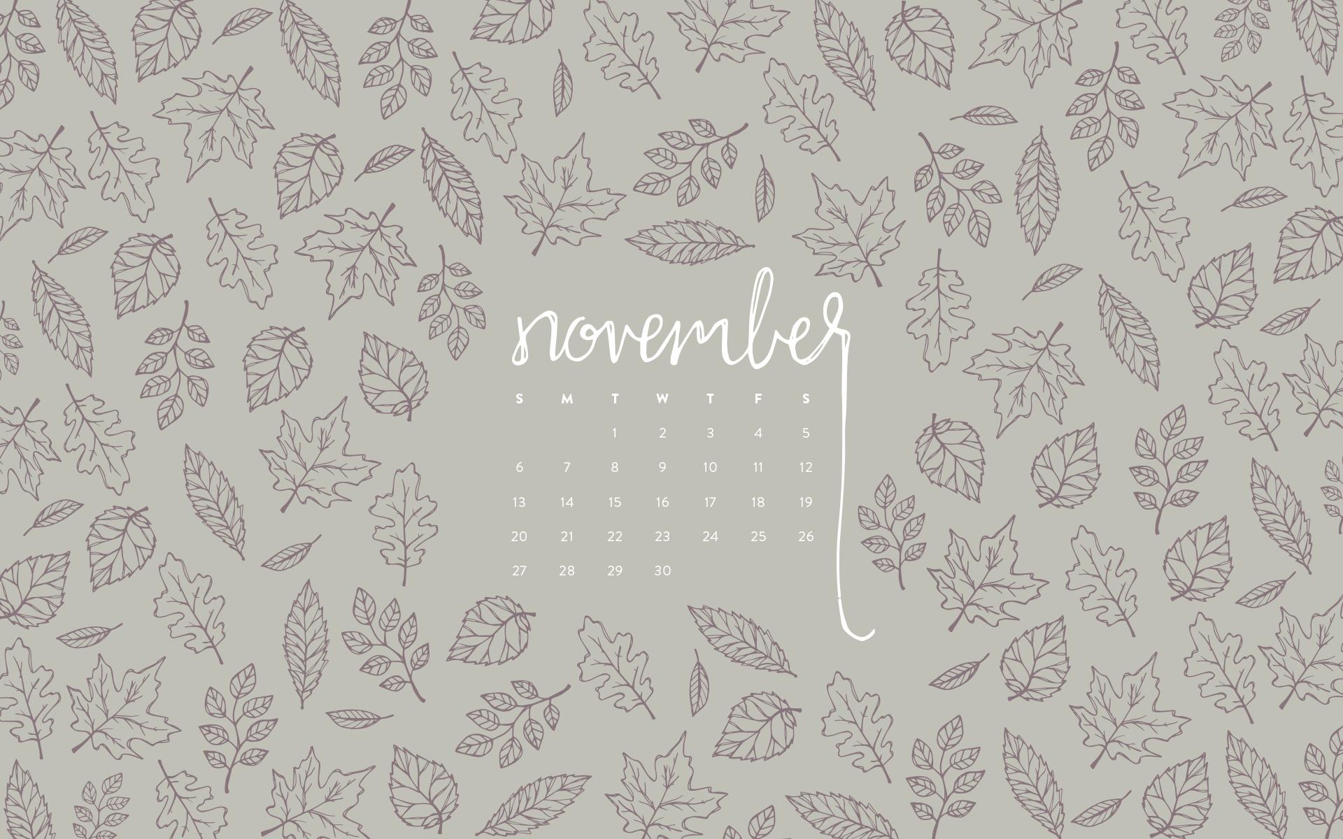 Marble Calendar Wallpaper November : Desktop wallpaper november calendar — britt fabello