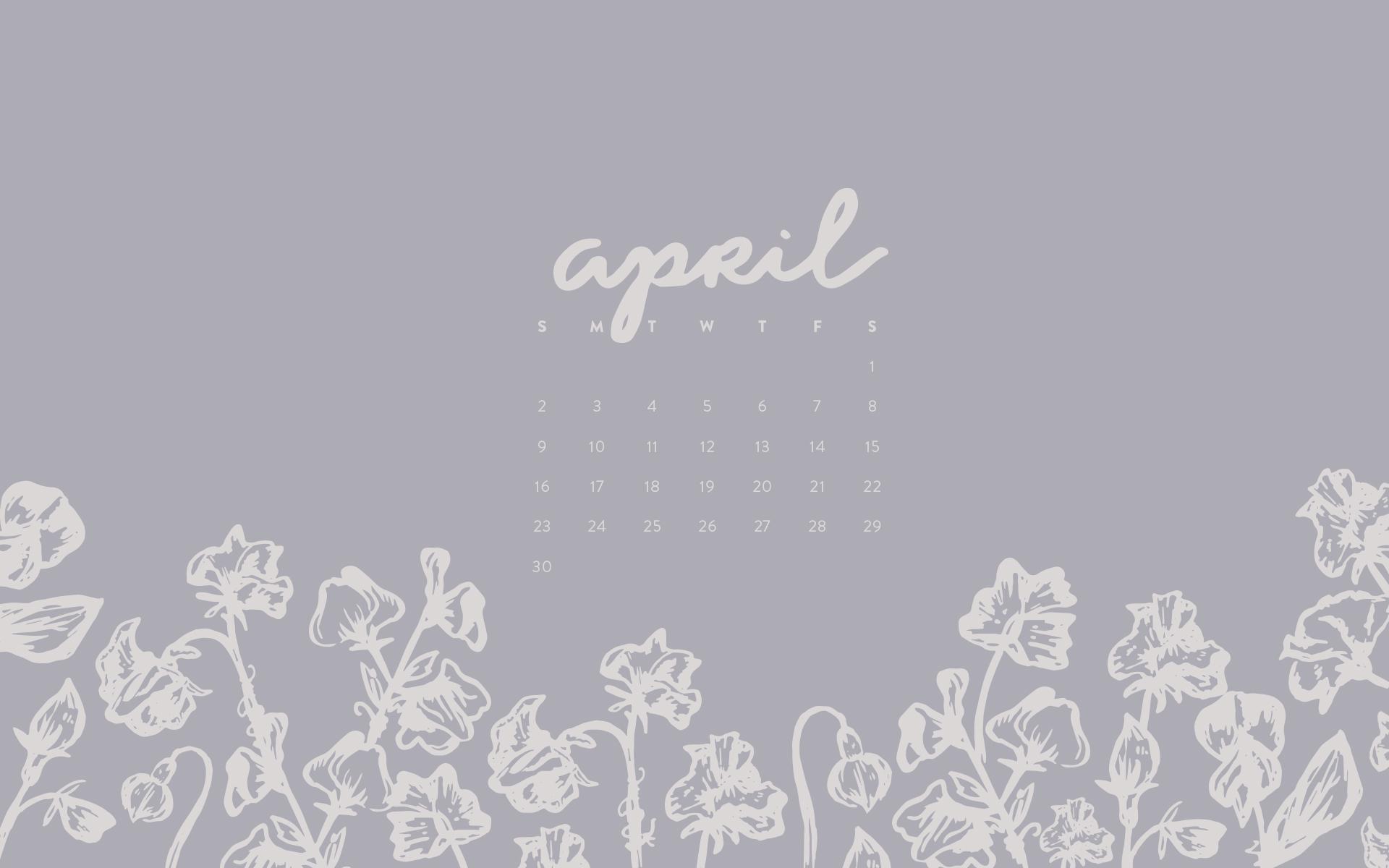 Wallpaper April 2017 Calendar Pattern Britt Fabello