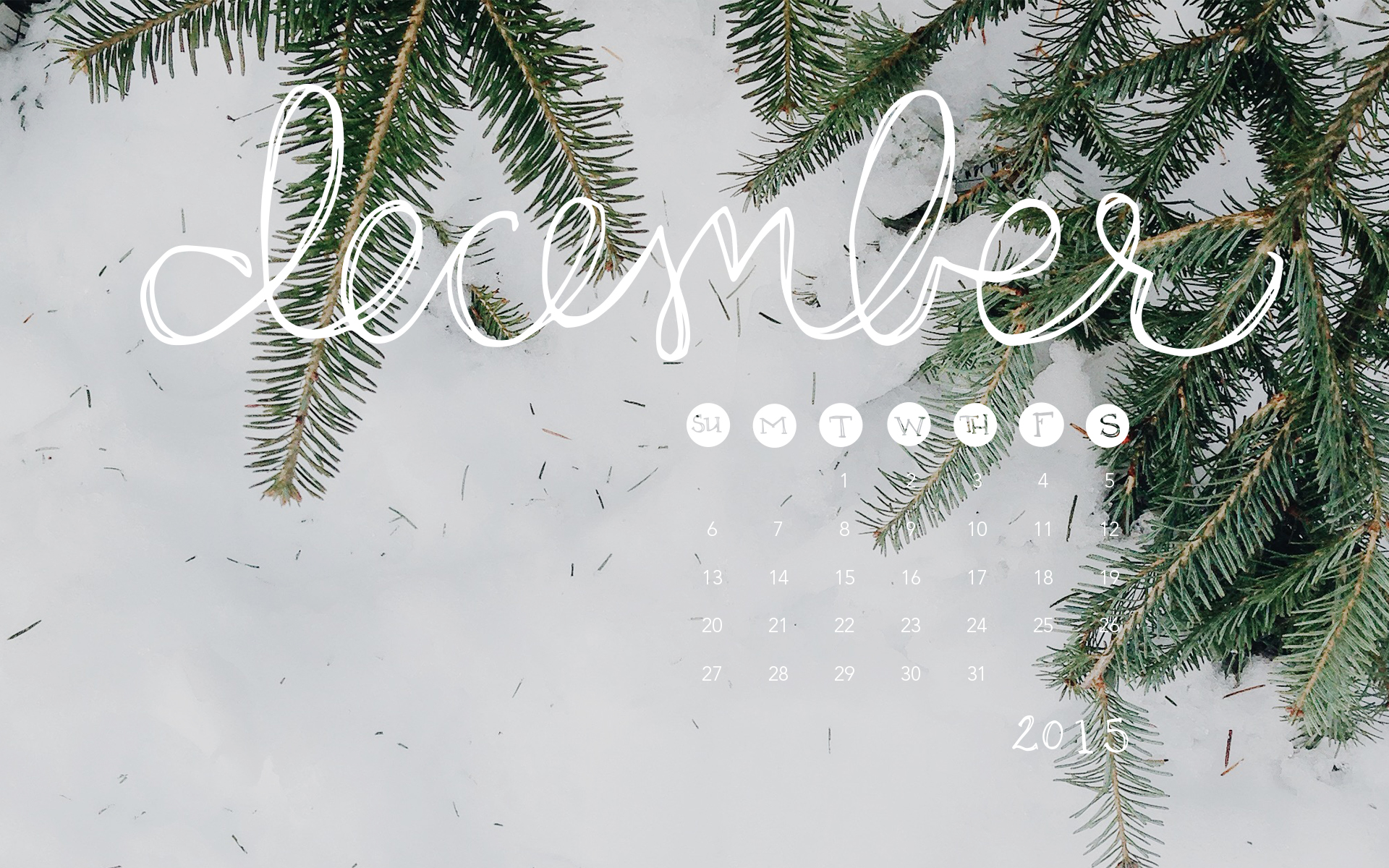 desktop wallpaper: december 2015 calendar — britt fabello