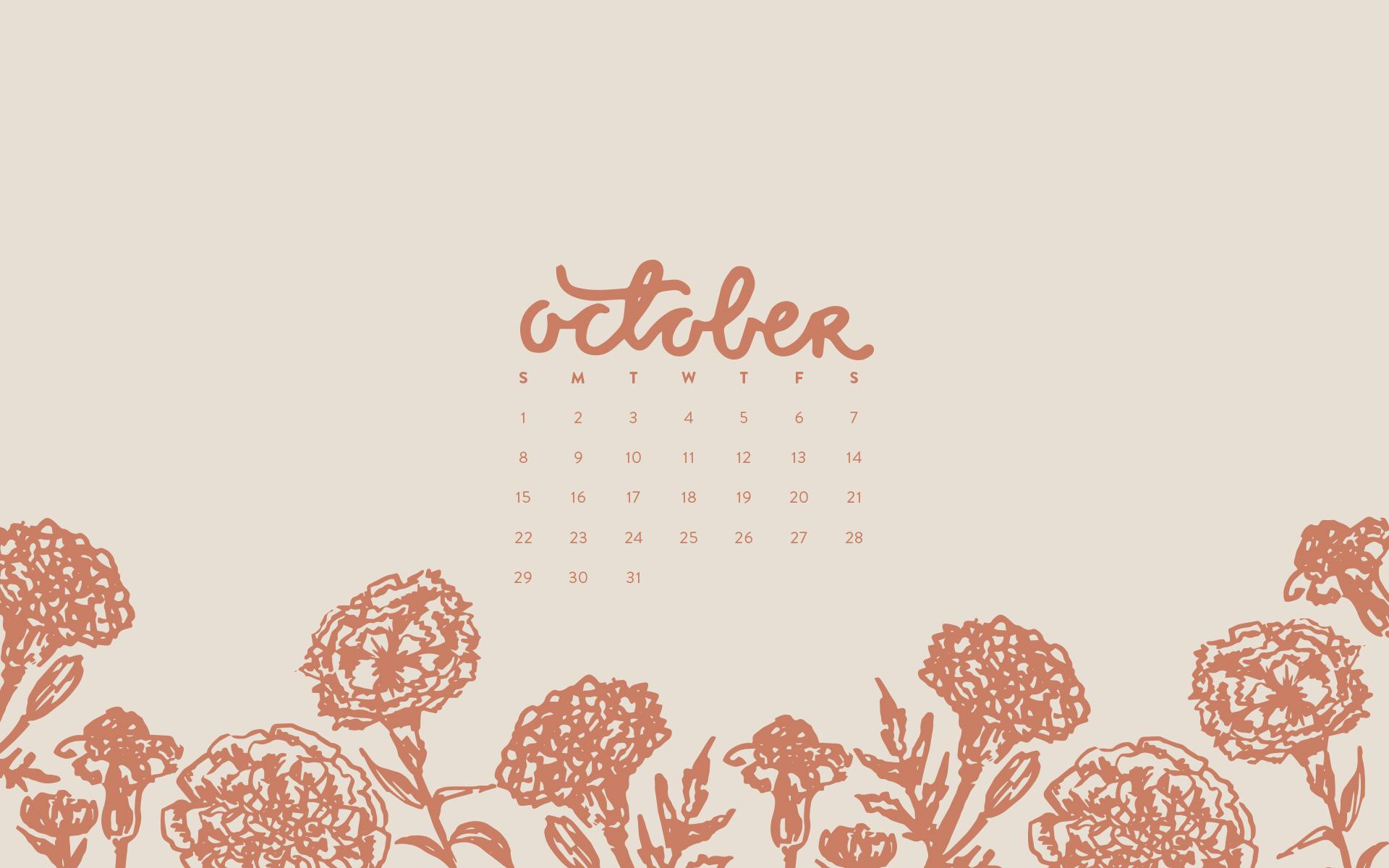Desktop Calendar Wallpaper Creator : Wallpaper: october 2017 calendar & pattern u2014 britt fabello