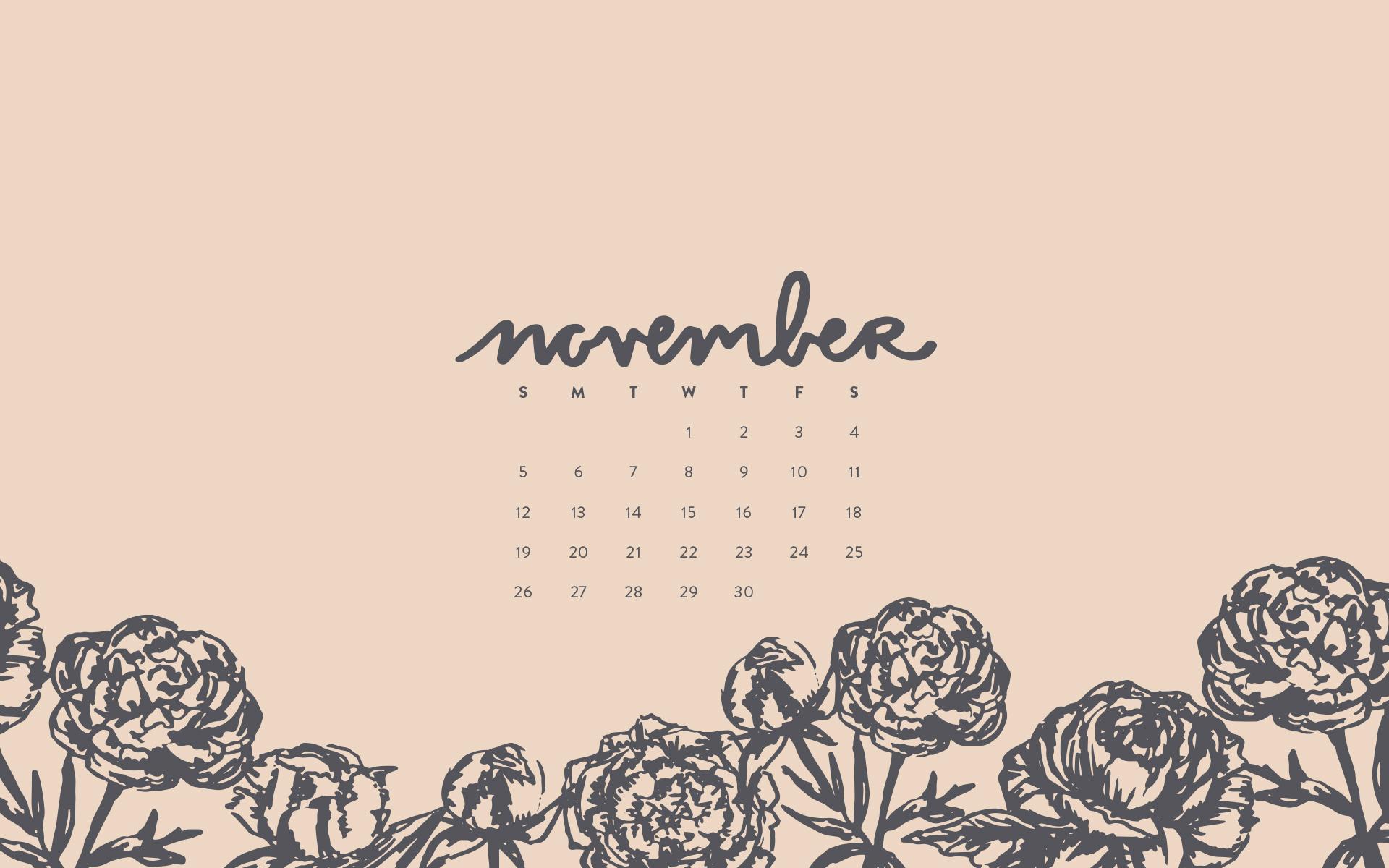 Desktop Calendar Wallpaper Creator : Wallpaper: november 2017 calendar & pattern u2014 britt fabello