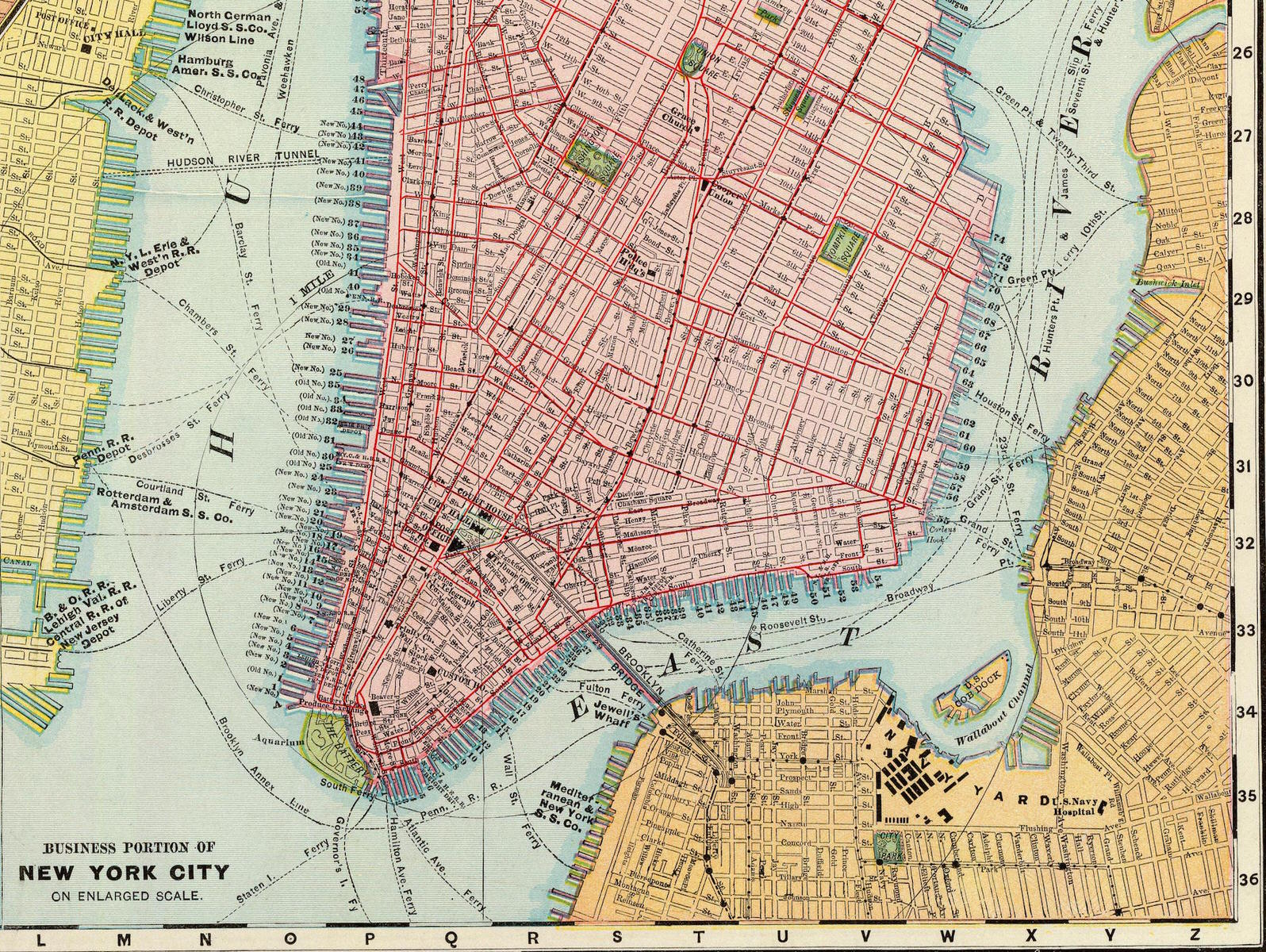 Greene Street Map Index  Greene Street - New york map city