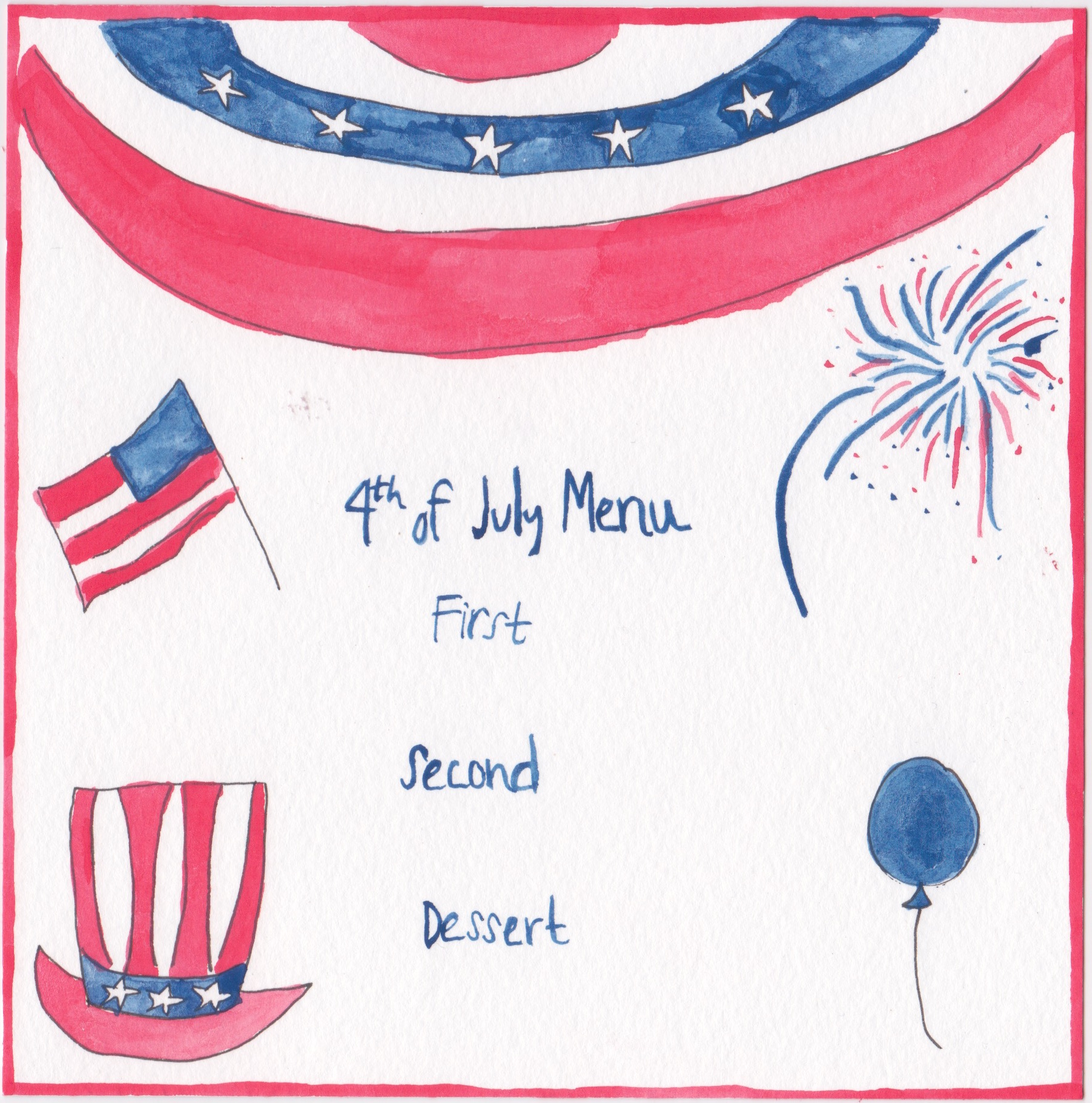Chefanie how to throw a fire cracking fourth of july f te for 4th of july menu template