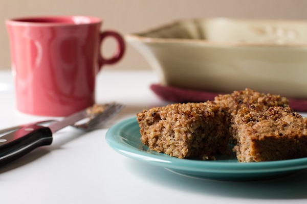 cinnamon quinoa coffee cake >> edible perspective