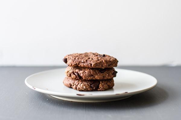 Double Chocolate Coconut Cookies (1-bowl, GF + vegan!) | edibleperspective.com