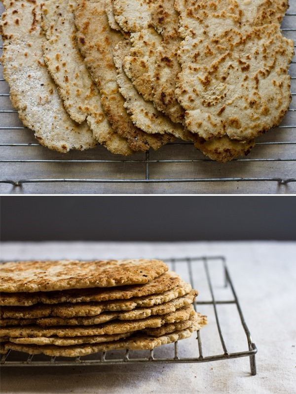 quick gluten-free flat bread // edible perspective