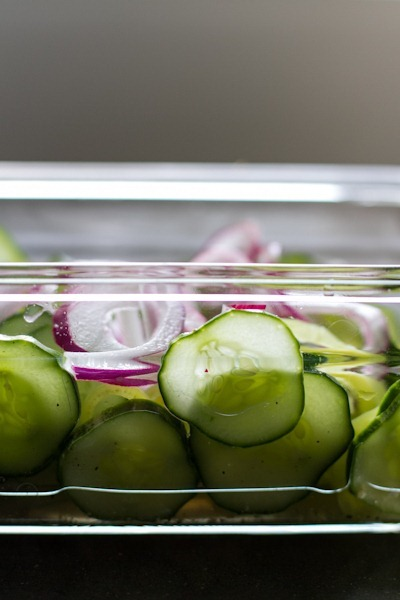 simple cucumber salad | edible perspective