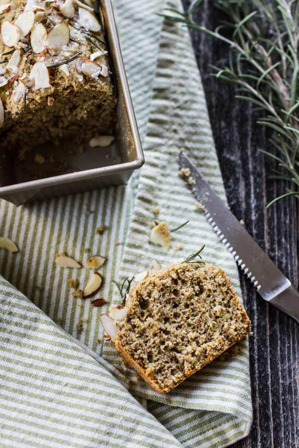 Salted Herb Savory Quick Bread | edibleperspective.com