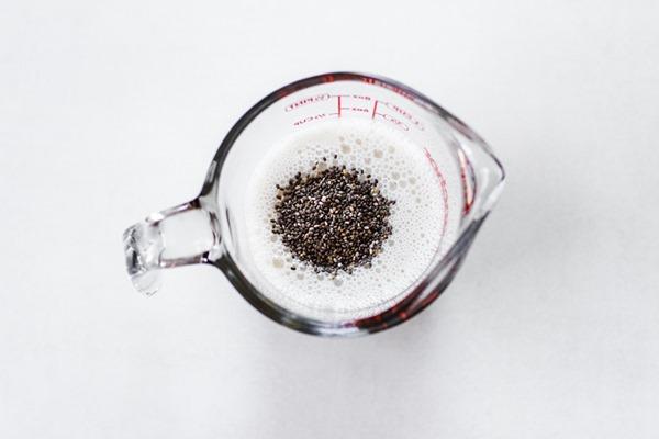 Cake Batter Chia Pudding   edibleperspective.com #vegan