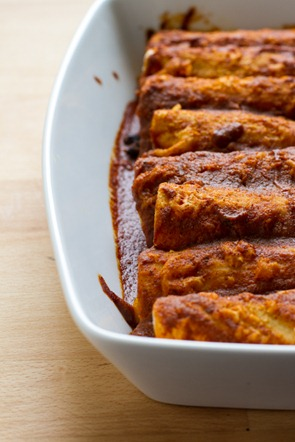 butternut squash + black bean enchiladas | edible perspective
